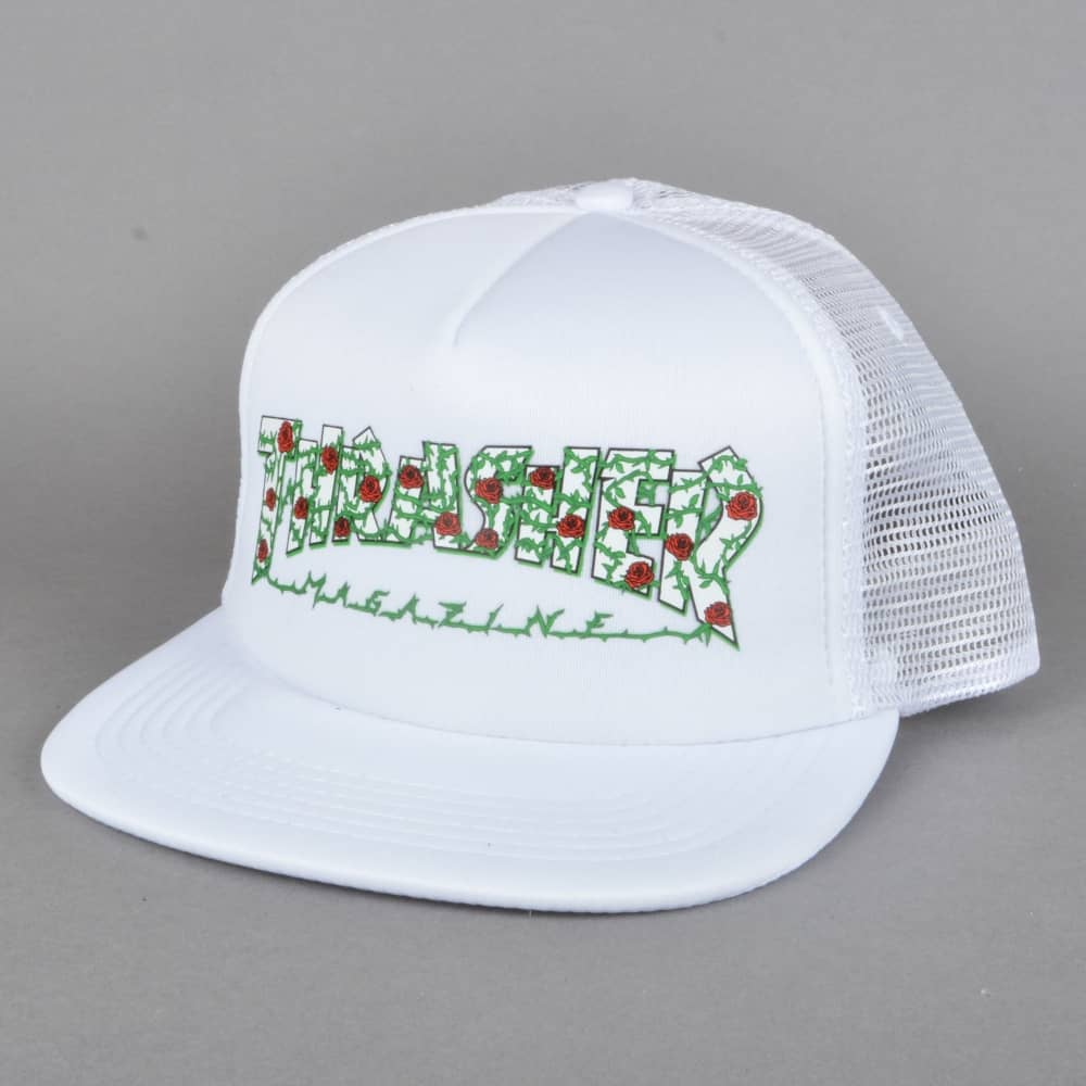 60fdda1f2008f Thrasher Rose Mesh Cap - White - SKATE CLOTHING from Native Skate ...