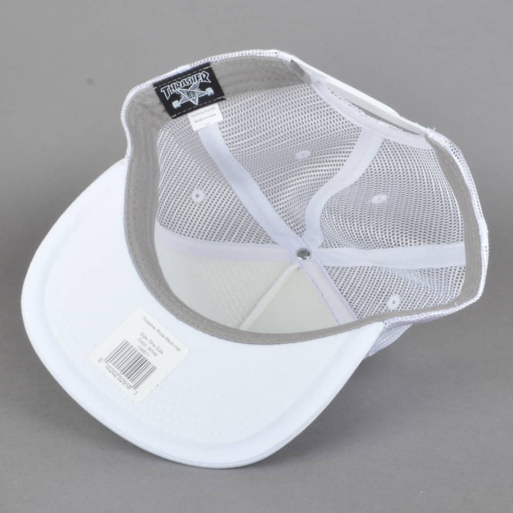 80ea741bbeb Thrasher Rose Mesh Cap - White - SKATE CLOTHING from Native Skate ...