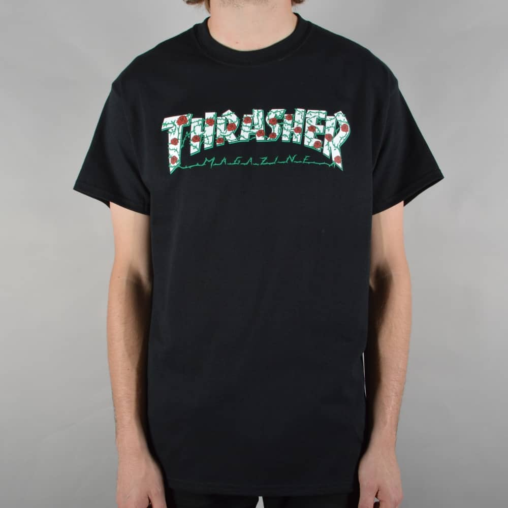 trasher shirt with roses