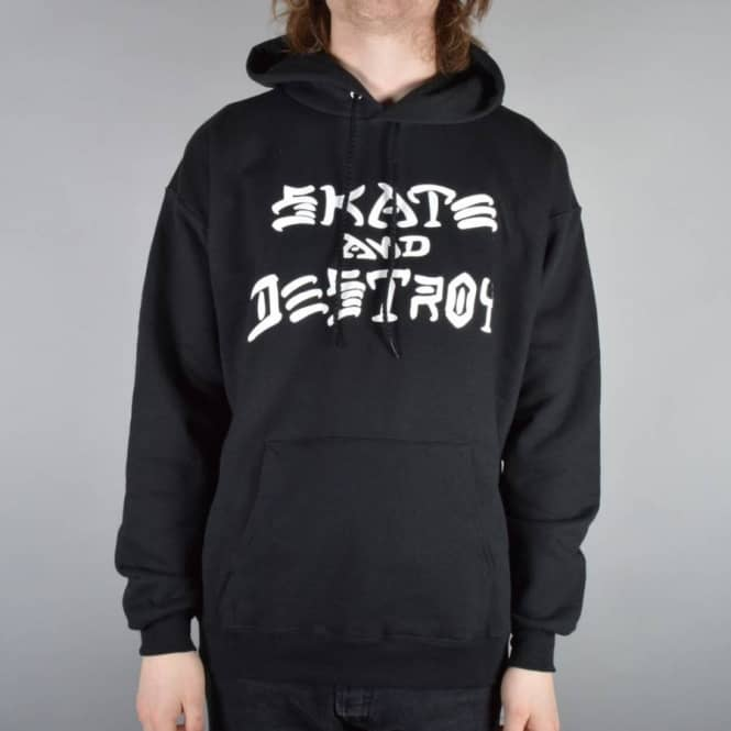 3a5688c04546 Thrasher Skate And Destroy Pullover Hoodie - Black - SKATE CLOTHING ...