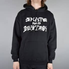 Thrasher Skate And Destroy Pullover Hoodie - Black