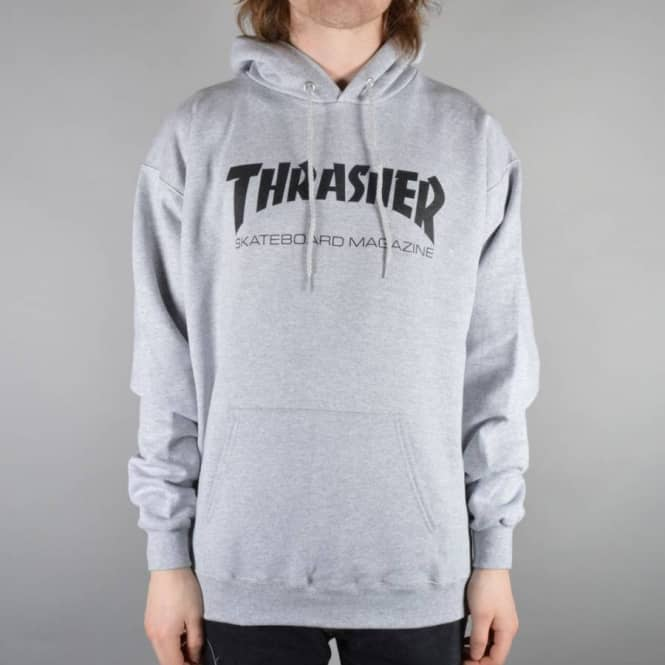 99bbd70dd349 Thrasher Skate Mag Logo Hoodie - Heather Grey - SKATE CLOTHING from ...