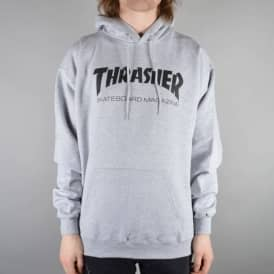 Thrasher Skate Mag Logo Hoodie - Heather Grey