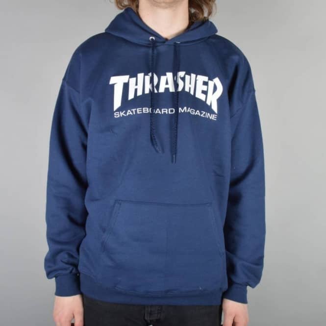 46c101cabea2 Thrasher Skate Mag Logo Hoodie - Navy - SKATE CLOTHING from Native ...