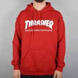 Thrasher Skate Mag Pullover Hoodie - Antique Cherry Red