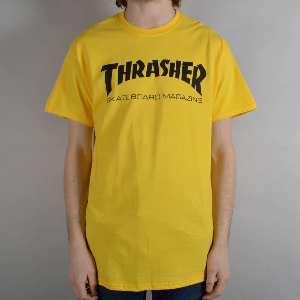 676beddb Thrasher Skate Mag Skate T-Shirt - Yellow - SKATE CLOTHING from ...