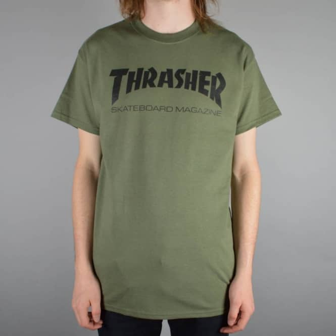 62a1ff50c52f Thrasher Skate Mag T-Shirt Army Green - SKATE CLOTHING from Native ...