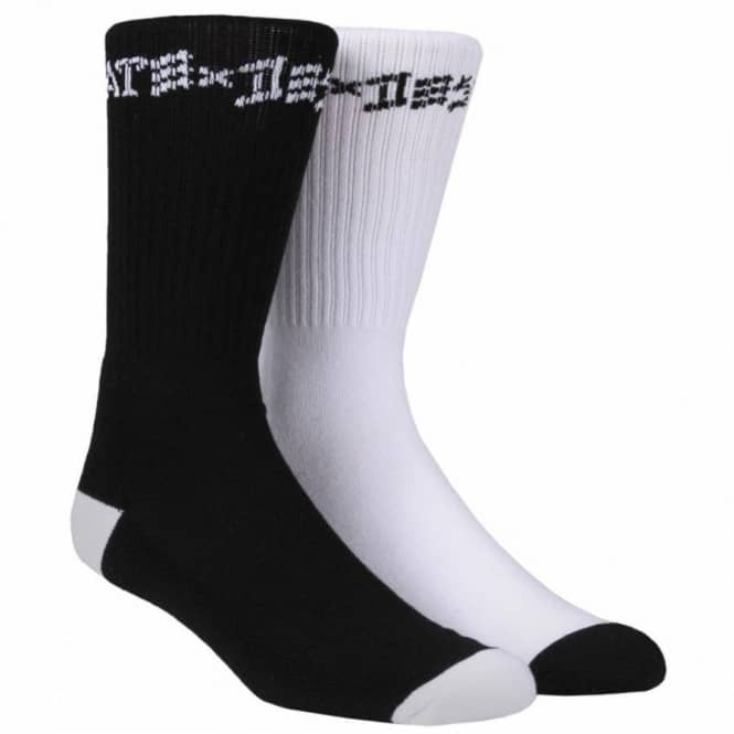 Thrasher Thrasher Skate x Destroy Socks 2 pack - Black/White