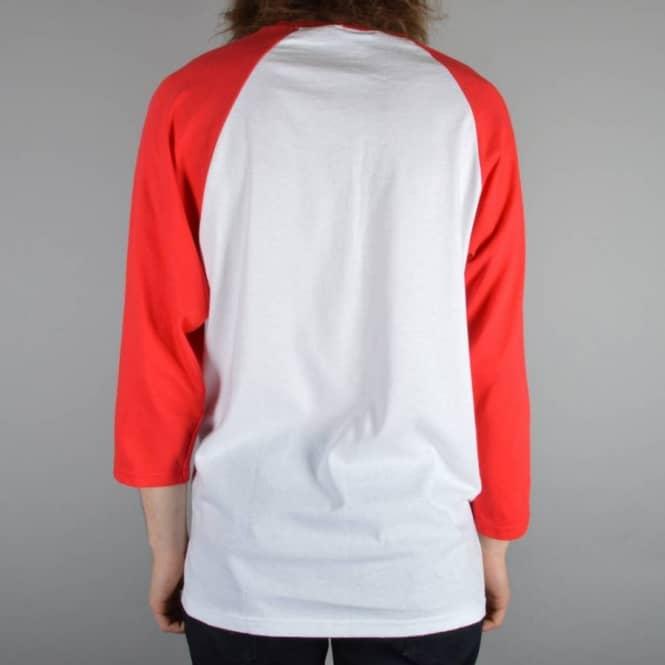 95f783e3b26c Thrasher Skategoat 3/4 Length Raglan Skate T-Shirt - Red/White ...