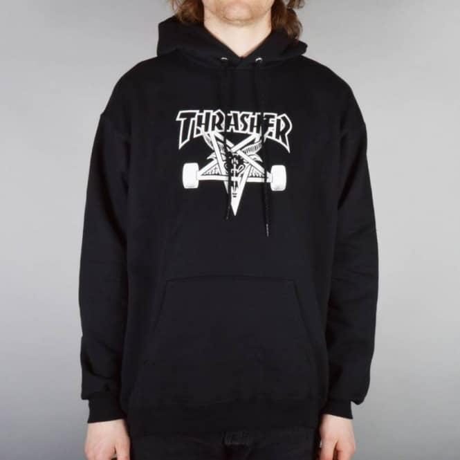 3b3cd4319916 Thrasher Skategoat Pull Over Hoodie - Black - SKATE CLOTHING from ...
