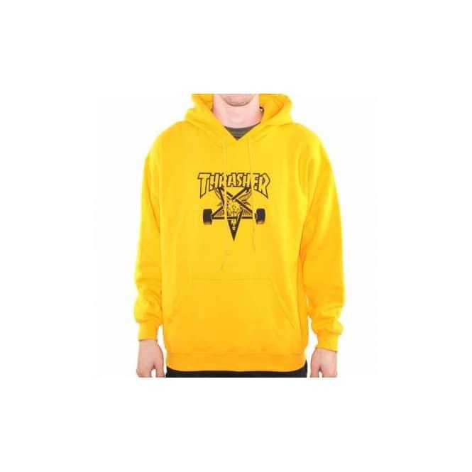 1d18ec2acd16 Thrasher Skategoat Pull Over Hoodie - Gold - Hooded Tops from Native Skate  Store UK