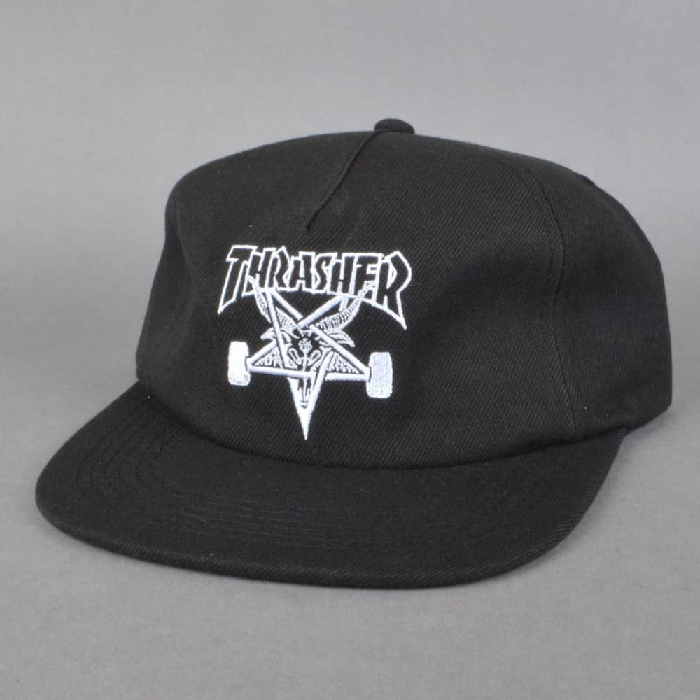 22b5a103130 Thrasher Skategoat Wool Blend Snapback cap - Black - SKATE CLOTHING ...