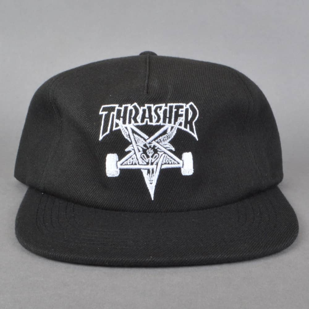 9c3f315a751 Thrasher Skategoat Wool Blend Snapback cap - Black - SKATE CLOTHING ...