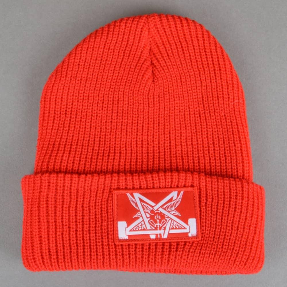 46a82376f87 Thrasher Skategoat Zoom Beanie - Red White - SKATE CLOTHING from ...
