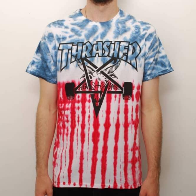 The Patriot Skategoat Tie Dye Skate T Shirt Multi