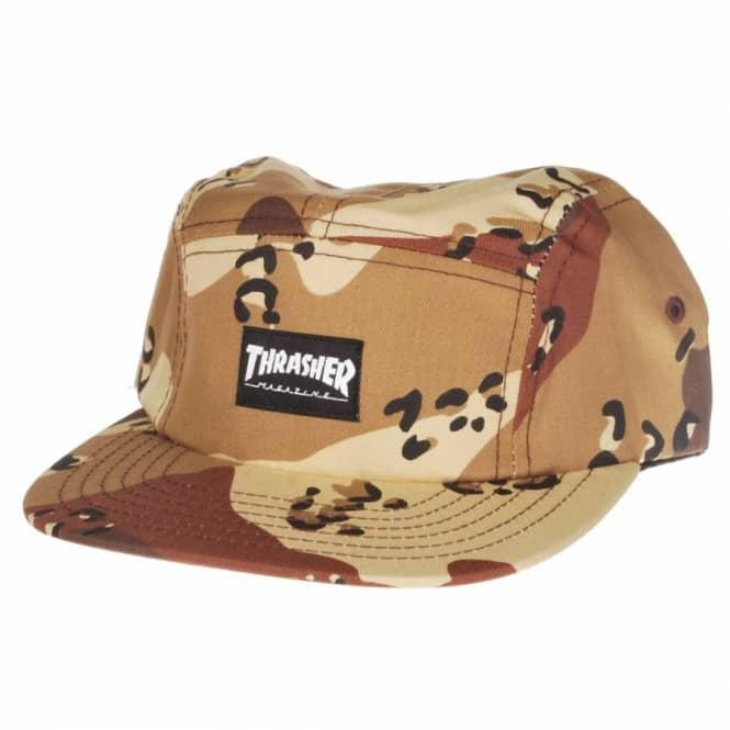 Thrasher Desert Camo 5 Panel Cap - Desert Camo - SKATE CLOTHING from ... 5d0a82e1a73