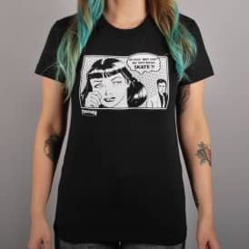 Thrasher Girls Boyfriend T-Shirt - Black