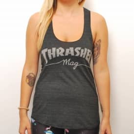 Thrasher Girls Mag Racerback Vest - Black