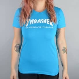 Thrasher Girls Skate Mag Logo T-Shirt - Teal