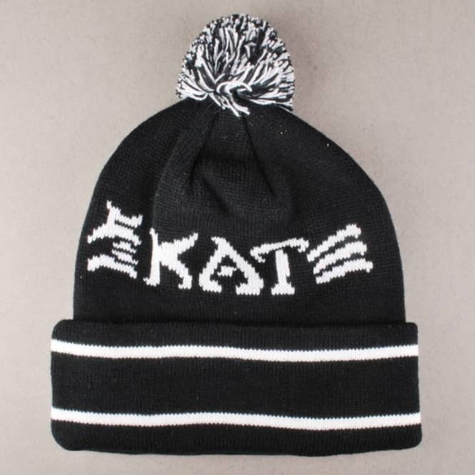 1ff4c1aba0c Thrasher Skate And Destroy Pom Pom Beanie - Black - Beanies from ...