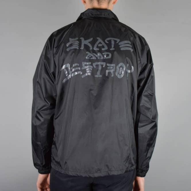 b99ebcb3eccf Thrasher Skate   Destroy Coach Jacket - Black - SKATE CLOTHING from ...