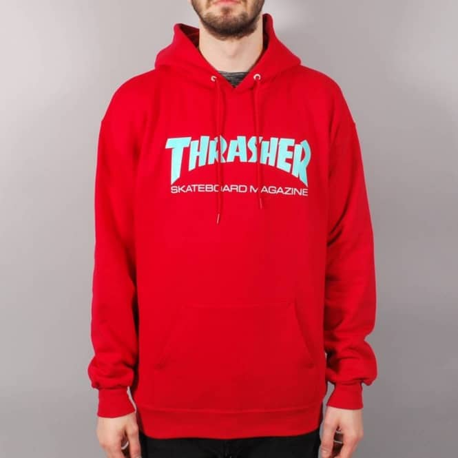 c095cd11e596 Thrasher Skate Mag Hoodie - Red Teal - SKATE CLOTHING from Native ...