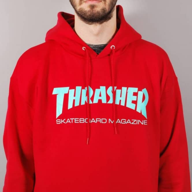 2f9018b1021e Thrasher Skate Mag Hoodie - Red Teal - SKATE CLOTHING from Native ...