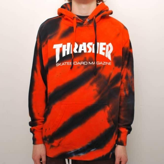 Thrasher Skate Mag Tiger Stripe Tie Dye Pullover Hoodie - Orange ... 53e4c0761
