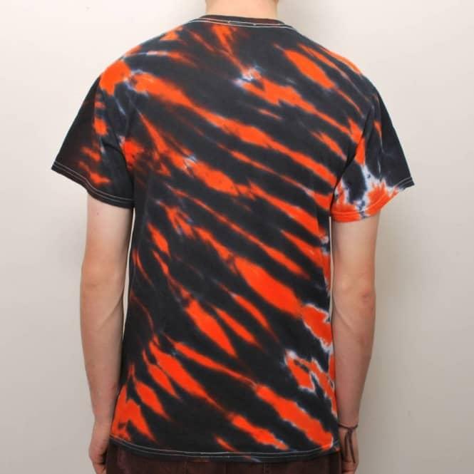 d8be8ce6552f Thrasher Skate Mag Tiger Stripe Tie Dye T-Shirt - Orange - Skate T ...