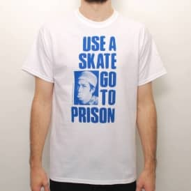 Thrasher Use A Skate Go To Prison Skate T-Shirt - White
