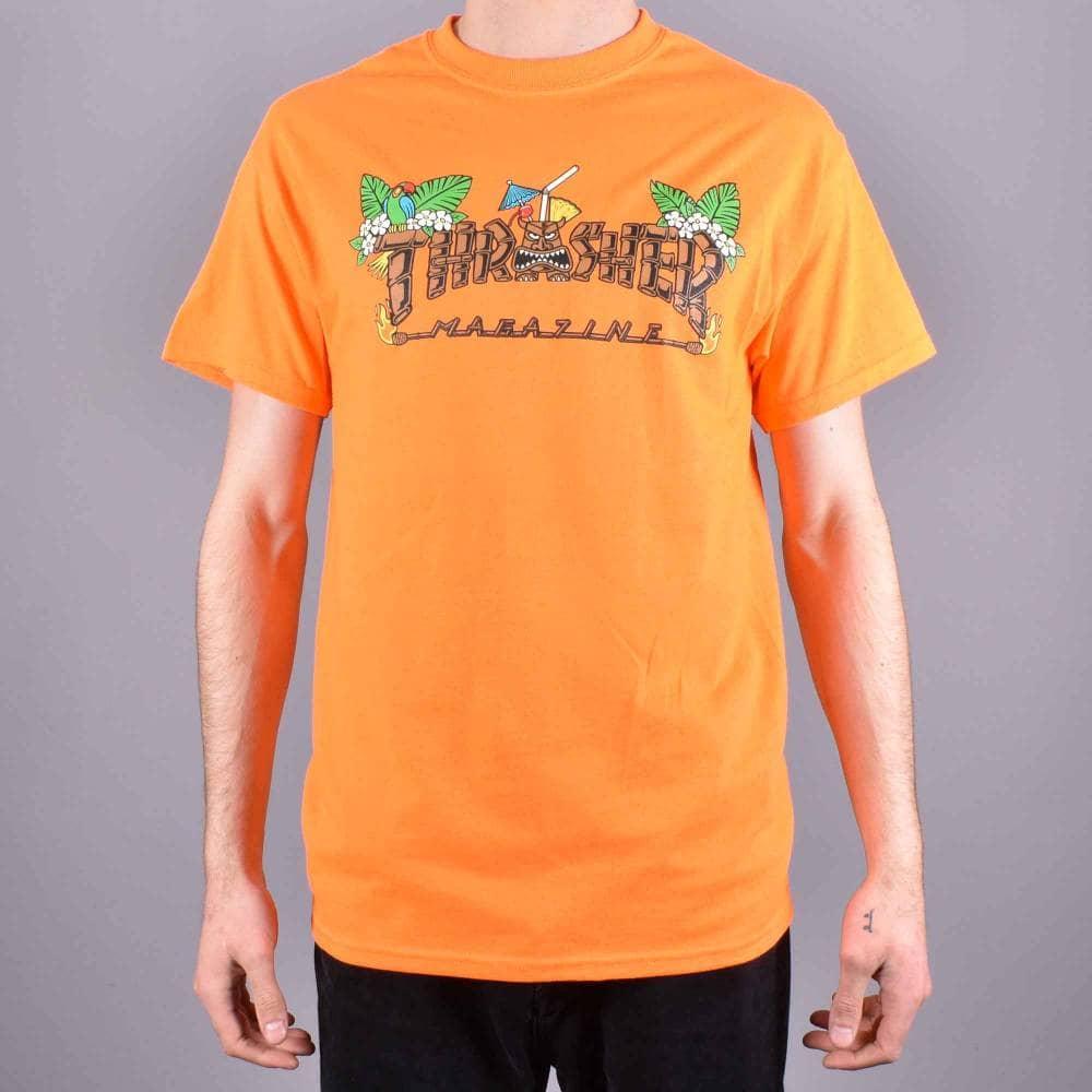 1b151eed88aa Thrasher Tiki Skate T-Shirt - Safety Orange - SKATE CLOTHING from ...