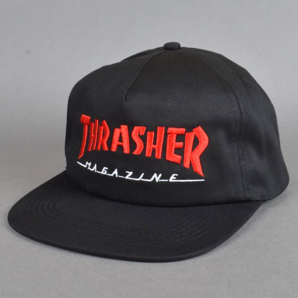 Thrasher Two-Tone Magazine Snapback Cap - Black Red - SKATE CLOTHING ... 787d1434694