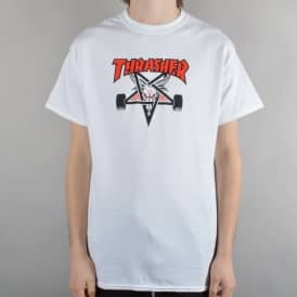 Two-Tone Skategoat Skate T-Shirt - White