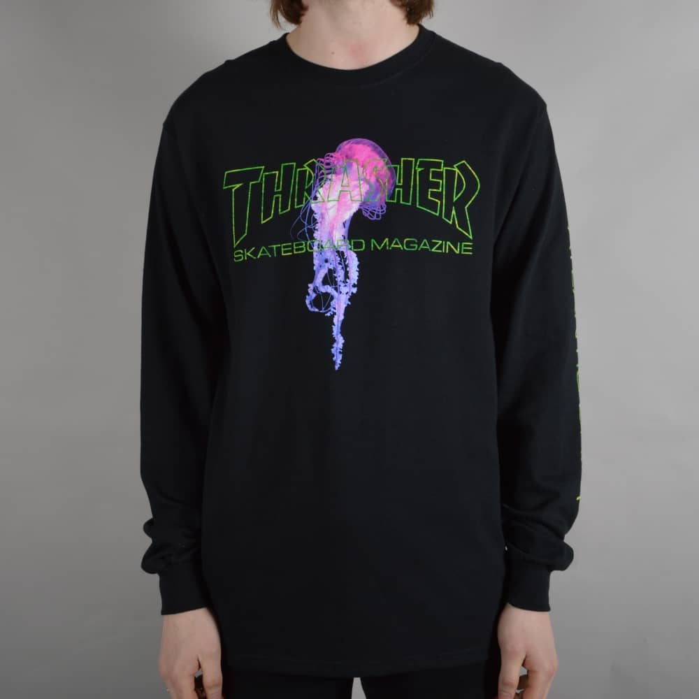 e721394966cd Thrasher x Atlantic Drift Longsleeve T-Shirt - Black - SKATE ...