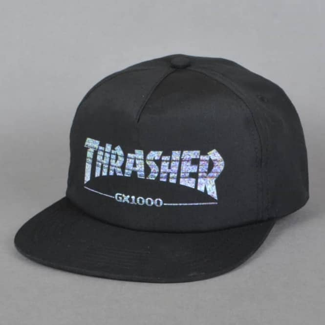 Thrasher x GX1000 Snapback Cap - Black - SKATE CLOTHING from Native ... e99c9920c