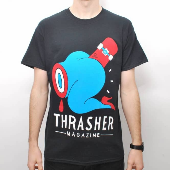 Shirt Credit ColabSkate Thrasher Parra Black Card X T CBWdQroxe
