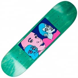 Three Faces (Green Stain) Skateboard Deck 8.5