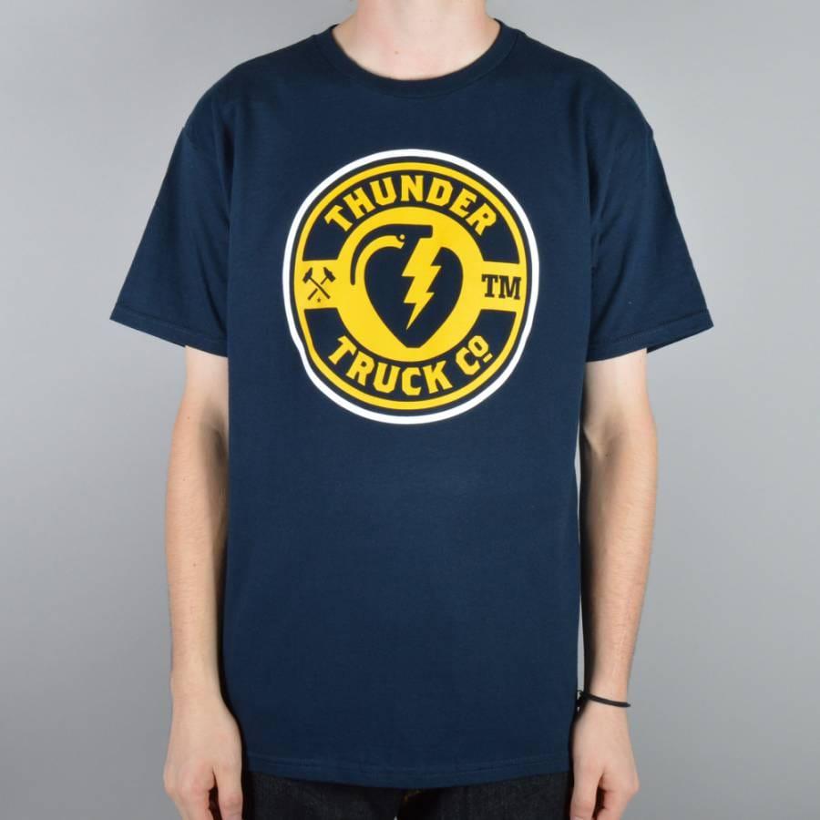Thunder Trucks Mainline Skate T-Shirt - Navy - Thunder ...