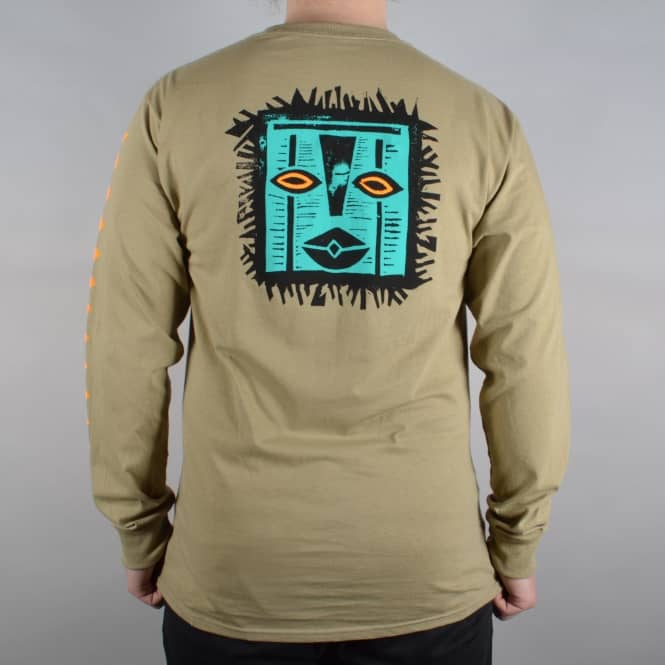 Girl Skateboards Tiki Longsleeve T-Shirt - Safari Green