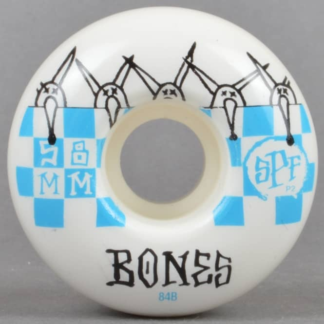 Bones Wheels Tiles 84B SPF P2 Skateboard Wheels 58mm