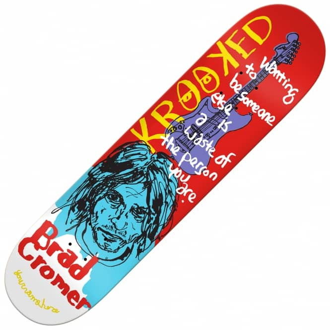 Krooked Skateboards Tim Kerr Cromer Skateboard Deck 8.38