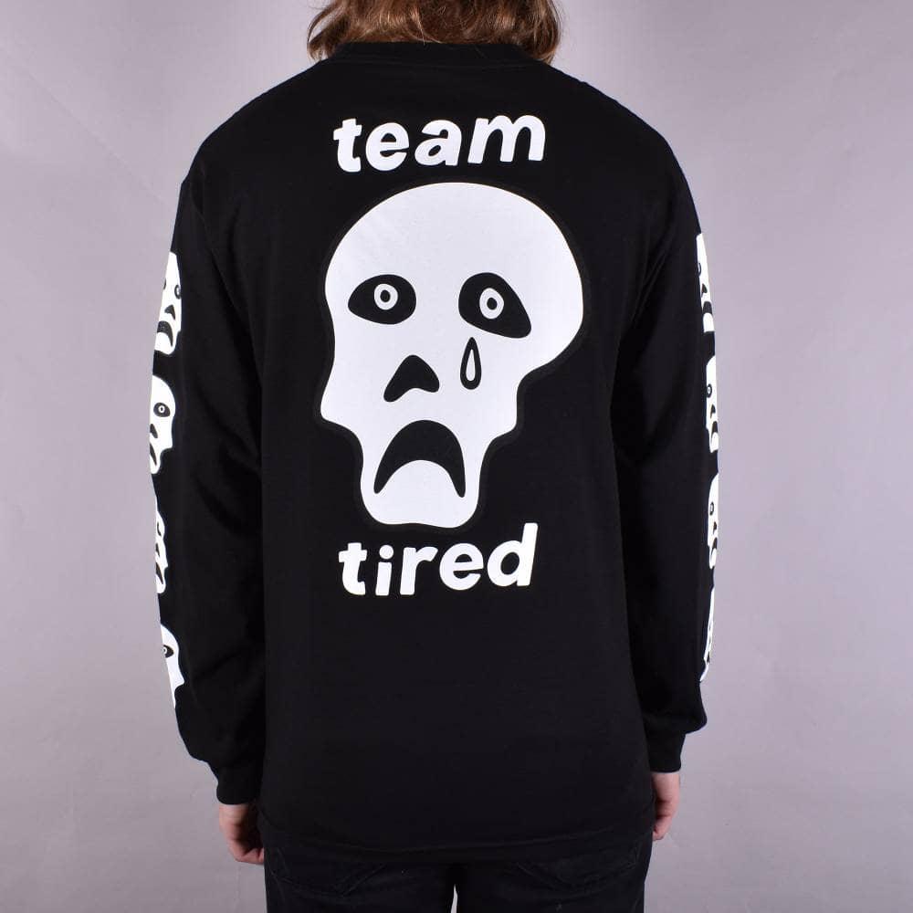 ad8fc27e Tired Skateboards Crappy Skull Longsleeve T-Shirt - Black - SKATE ...
