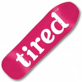 Lowercase Logo On Stumpnose (Pink Stain) Skateboard Deck 9.0