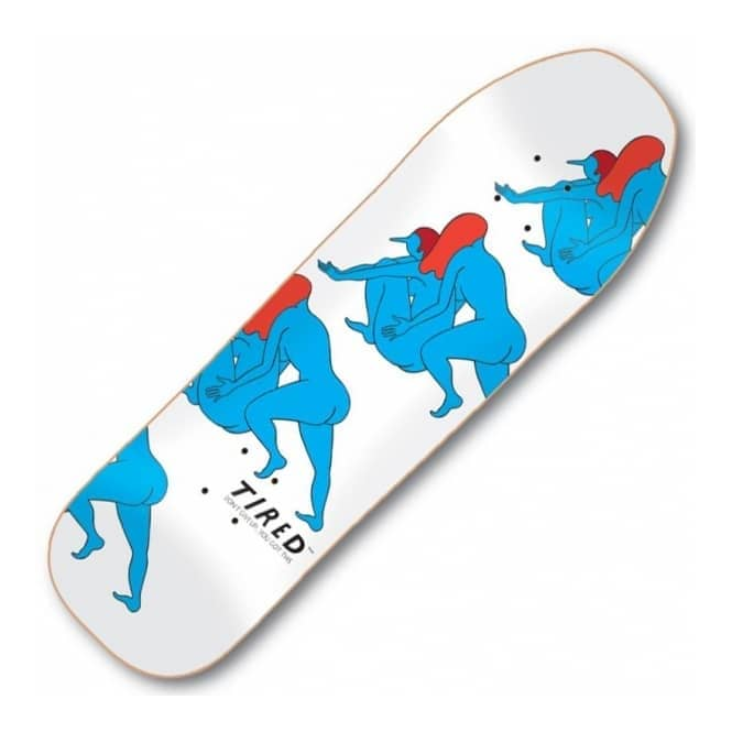 Tired Skateboards Pushing Sequence Stumpnose Skateboard Deck 9.0