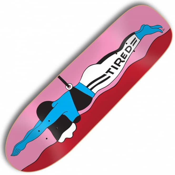 Tired Skateboards Swimming On Slick Skateboard Deck 9.189