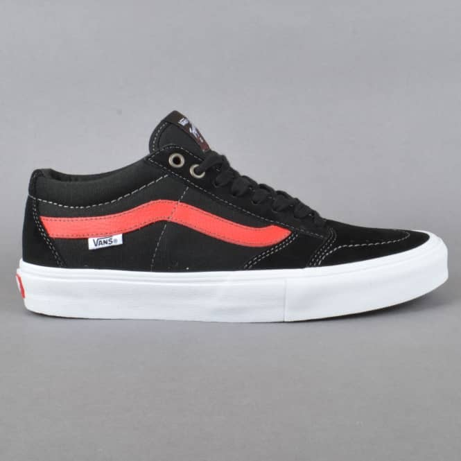 Vans TNT SG Skate Shoes - Black/Racing Red