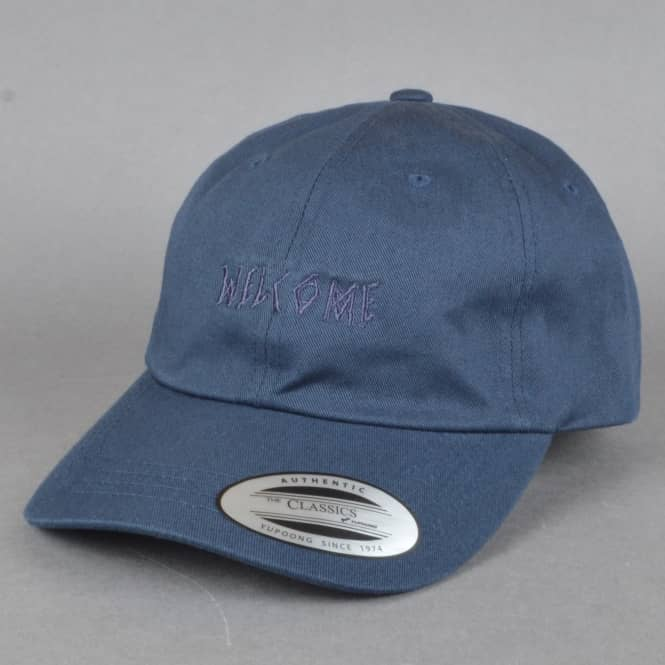 Welcome Skateboards Tonal Scrawl Unstructured Slider Cap - Navy