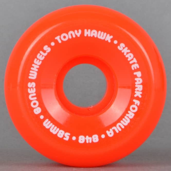 Bones Wheels Tony Hawk Mini Cube SPF Red Skateboard Wheels 58mm