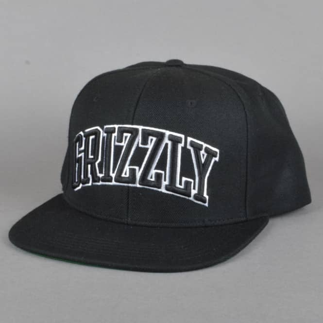Grizzly Griptape Top Team Snapback Cap - Black