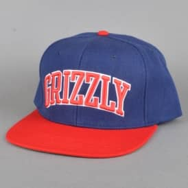 Top Team Snapback Cap - Navy/Red